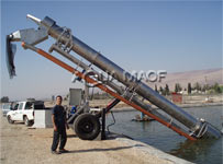 Fish Harvest Screw Elevator  Aquaculture Equipment project cages intensive fish growing technology Mariculture